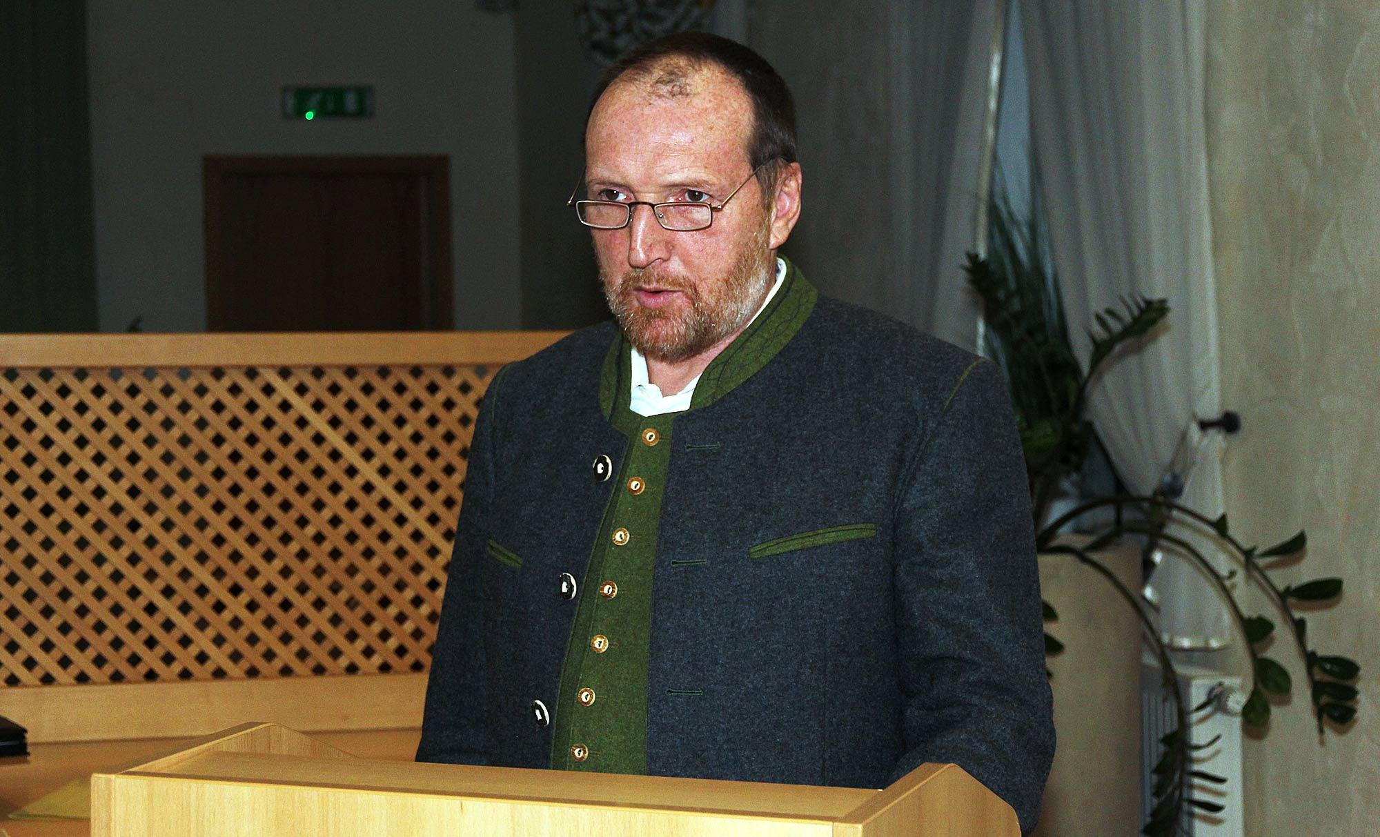 Jahresversammlung der Schützen - 1. Vorstand Wilfried Sailer