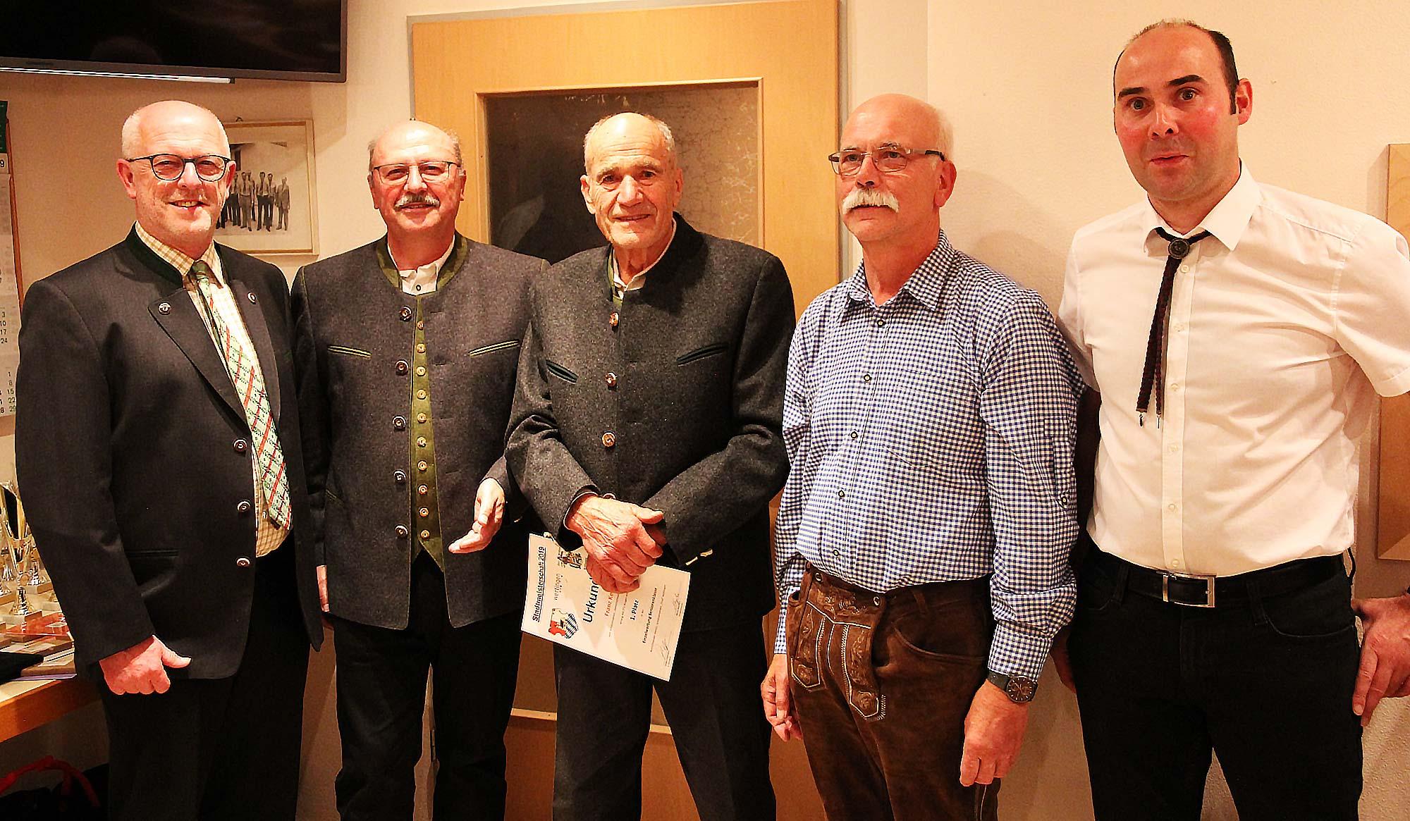 Stadtmeisterschaft 2019, Siegerehrung Luftgewehr Senioren, Stadtmeister Franz Keiß