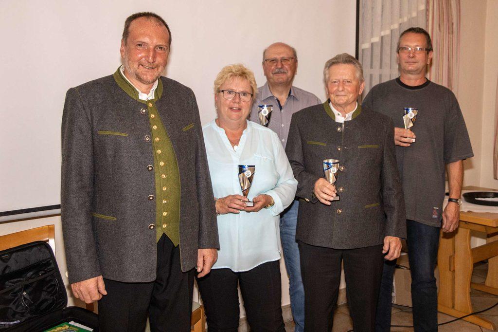 Vereinsmeister 2020 bei den Gottmannshofer Schützen